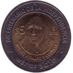 Coin dedicated to Miguel Hidalgo