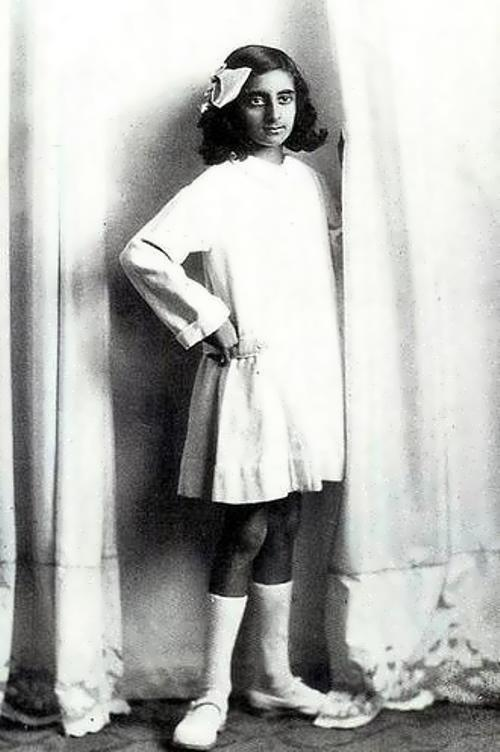 Indira in her childhood