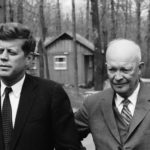 President John F. Kennedy meets with former President Dwight Eisenhower
