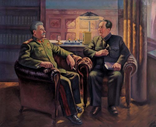 Zedong and Joseph Stalin