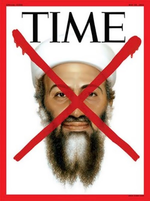 Osama on the cover of Time magazine