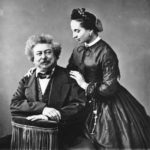 Alexandre Dumas father with his daughter