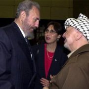 Castro and Yasser Arafat