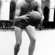 Young Fidel is playing basketball