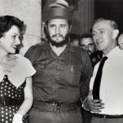 Fidel and actress Maureen O'Hara