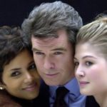 Rosamund and Pierce Brosnan