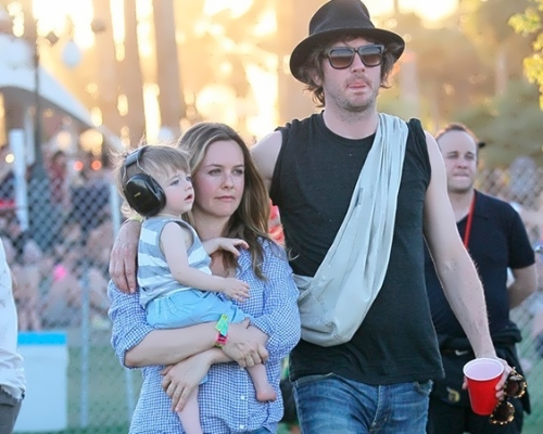 Alicia Silverstone, her husband Christopher Jarecki and their son