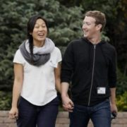 Zuckerberg and his wife Priscilla Chan
