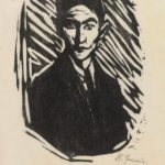 Print of Franz Kafka by Hans Fronius. 1937 Woodcut, on thin oriental paper The British Museum