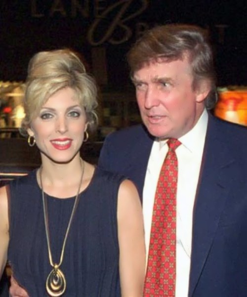 Trump and his second wife Marla