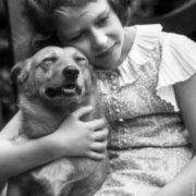Princess Elizabeth with her pet, July 1936
