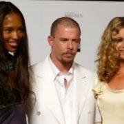 Naomi Campbell, Alexander McQueen and Kate Moss
