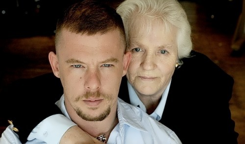 Alexander McQueen and his mother