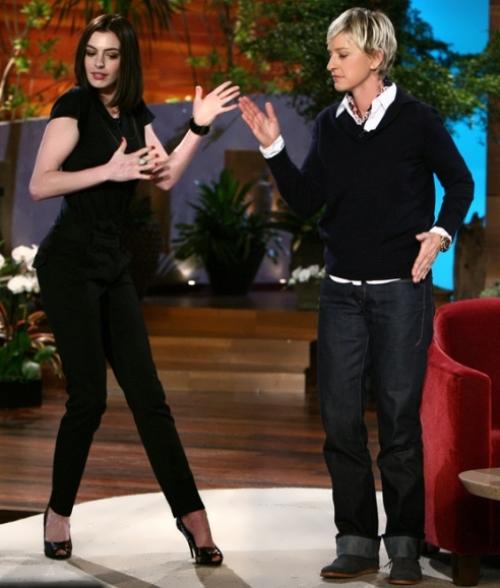 Ann Hataway and Ellen DeGeneres