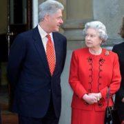 Bill Clinton and Elizabeth II