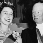 Dwight Eisenhower and Elizabeth II