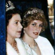 Elizabeth II and Lady Diana