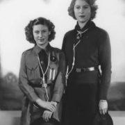 Elizabeth and her sister Margaret