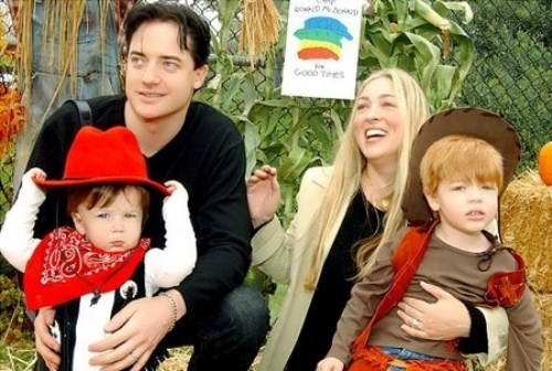 Brendan Fraser and Afton Smith