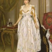 Herbert James Gunn. Coronation portrait of Queen Elizabeth II