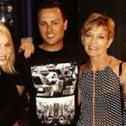 Margot Robbie with her mother and brother
