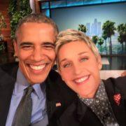 Barak Obama and Ellen DeGeneres