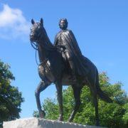 Statue of Elizabeth II in Parliament Hill in Ottawa, Canada