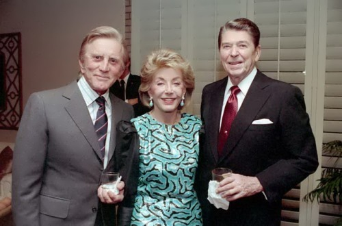 Ronald Reagan and Kirk Douglas