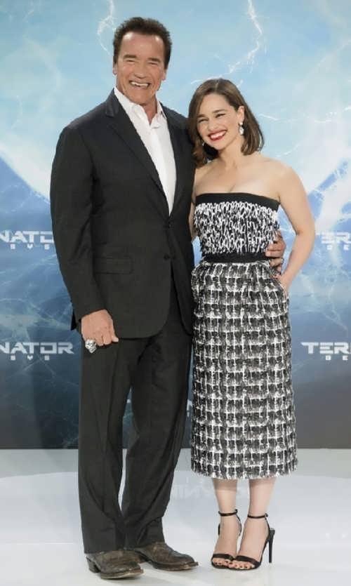Arnold Schwarzenegger and Emilia Clarke