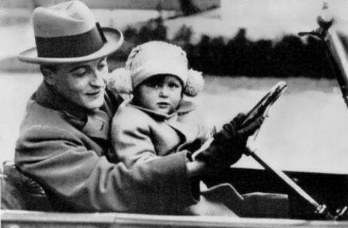 Scott Fitzgerald and his daughter Scottie
