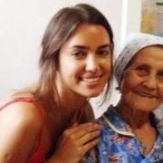 Irina Shayk and her grandmother
