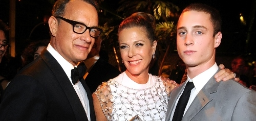 Tom Hanks and his wife Rita and son Chester