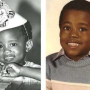 Kanye West in his childhood