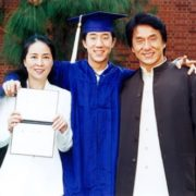 Jackie Chan and his family
