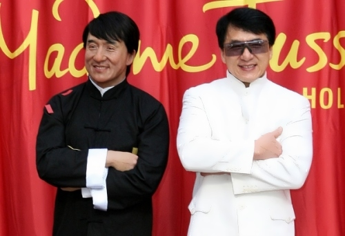 Jackie Chan and his wax figure