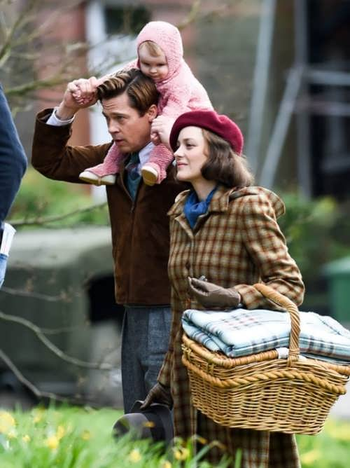 Brad Pitt and Marion Cotillard in the film Allied