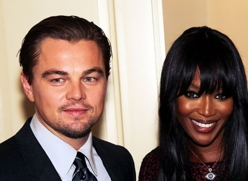 Naomi Campbell and DiCaprio