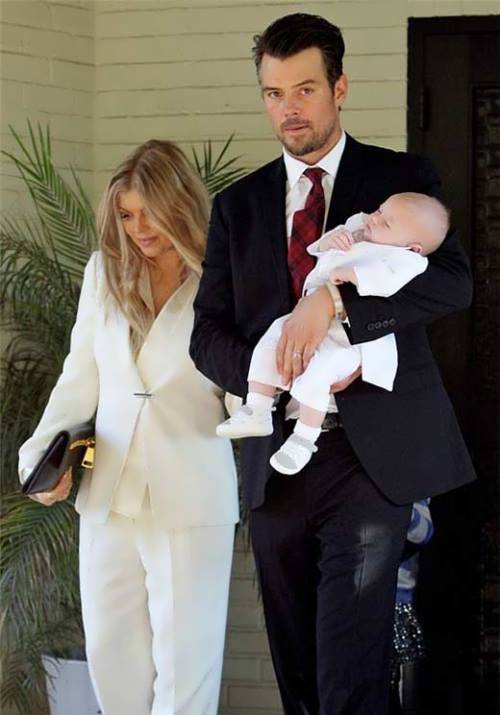 Fergie, her husband and their son