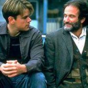 Matt Damon and Robin Williams in the film Good Will Hunting