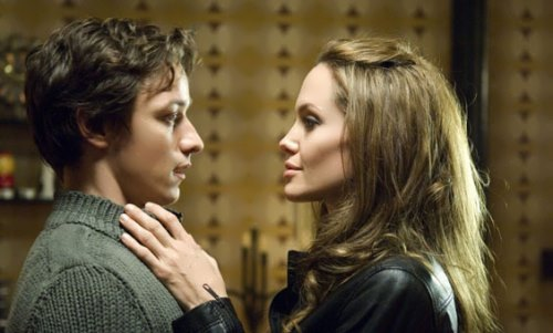 Angelina Jolie and James McAvoy