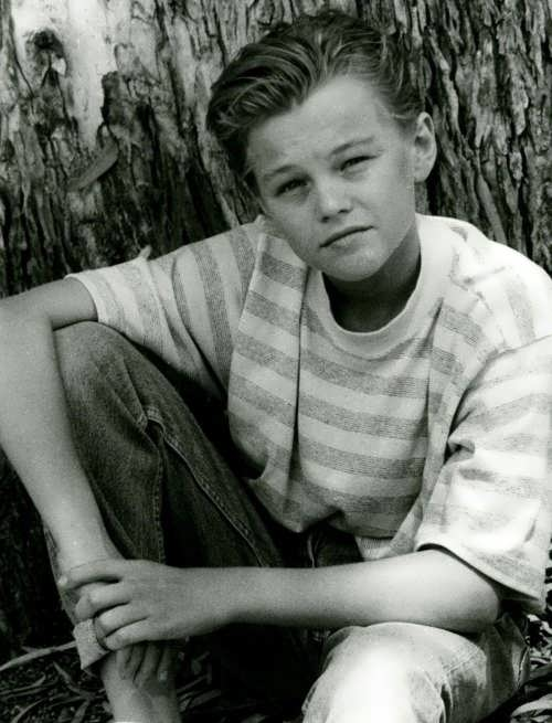 DiCaprio in his childhood