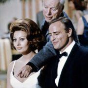 Marlon Brando, Charlie Chaplin and Sophia Loren