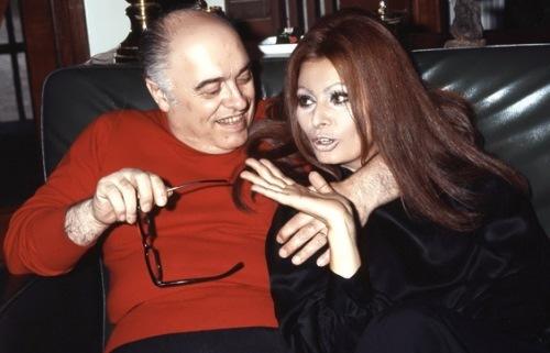Sophia Loren and her husband Carlo Ponti
