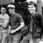 Tom Cruise, Sean Penn and Timothy Hutton on the set of Taps