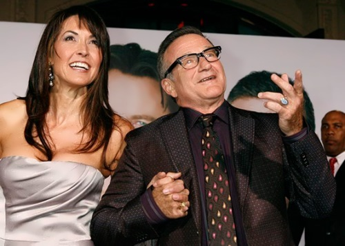Robin Williams and his third wife Susan Schneider