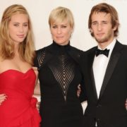 Robin Wright and her children