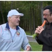 Alexander Lukashenko, President of the Republic of Belarus, and Steven Seagal