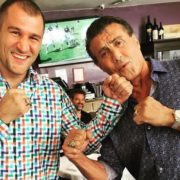 Russian professional boxer Sergey Kovalev and Stallone