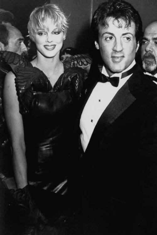 Brigitte Nielsen and Sylvester Stallone