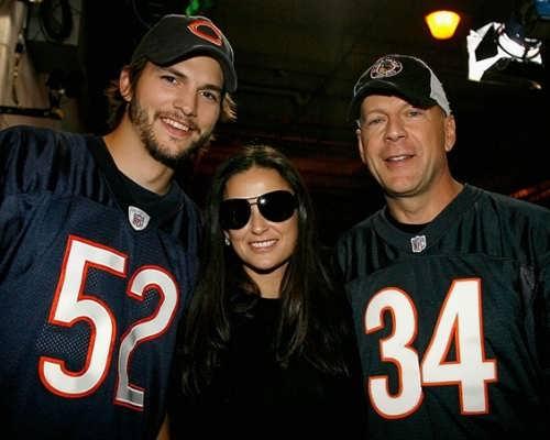 Ashton Kutcher, Demi Moore and Bruce Willis